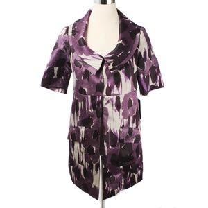 NWT Simply Vera Wang Purple Pattern Blazer or Coat